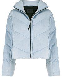 AllSaints ジップアップ パデッドジャケット - ブルー