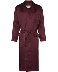CDLP Home Robe Long Dressing Gown - Purple