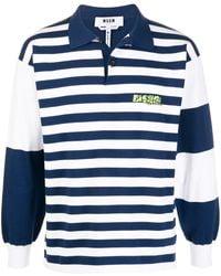 MSGM - Полосатая Рубашка-регби - Lyst