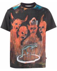 Walter Van Beirendonck Pablo Iglesias Tシャツ - ブラック