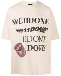 we11done ロゴ Tシャツ - マルチカラー