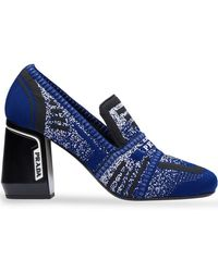 Prada - Knitted Loafer-style Pumps - Lyst