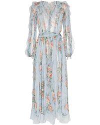 Zimmermann - Seidenkleid mit Blumenmuster - Lyst