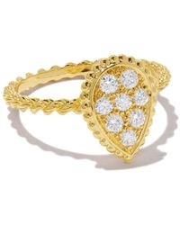 Boucheron 18kt Yellow Gold Diamond Serpent Bohème Ring - Metallic