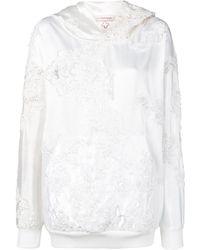 A.F.Vandevorst Wedding embroidery hoodie - Blanc