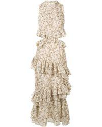 SIR - Annalie Ruffle Midi Dress - Lyst