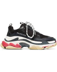 Balenciaga Triple S Lace-up Sneakers - Black