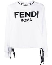 Fendi Толстовка С Логотипом - Белый