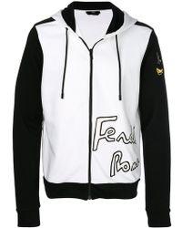 Fendi - Contrast Hooded Jacket - Lyst