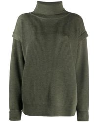 Barena Layered Detail Roll Neck Sweater - Green