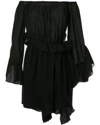 Goen.J | Off-the-shoulder Shirred Wrap Dress | Lyst