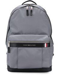 Tommy Hilfiger Rucksack mit Logo-Schild - Grau