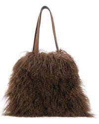 P.A.R.O.S.H. Quar Shoulder Bag - Brown