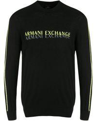 Armani Exchange ロゴ スウェットシャツ - ブラック