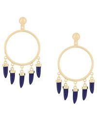 Eshvi - Capsule Lapis Earrings - Lyst