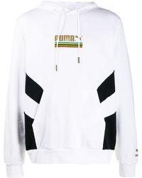 PUMA Tfs パネル ロゴ パーカー - ホワイト
