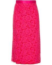Michael Lo Sordo - Lace Pencil Skirt - Lyst
