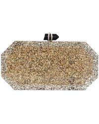 Marchesa - Marbeled Box Clutch Bag - Lyst