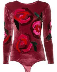 Alexia Hentsch Rose Velvet Body - Red