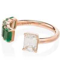 SHAY - ダイヤモンド&エメラルド リング 18kローズゴールド - Lyst