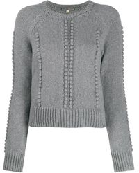 ALEXACHUNG クロップド セーター - グレー