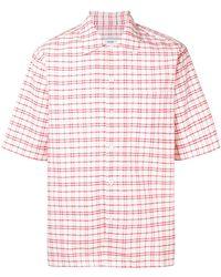 AMI キャンプカラー シャツ - ピンク