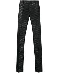 Moschino Pantalon Met Borduurwerk - Zwart