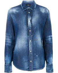 DSquared² - Bleached Denim Shirt - Lyst