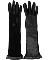 Lanvin Wool Elbow-length Gloves - Black