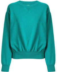Coohem Knitted Crew Neck Sweater - Green