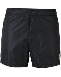 Moncler - Contrast Piped Swim Shorts - Lyst
