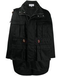 Loewe Пальто С Карманами - Черный