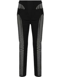 Dion Lee Mesh-detail Contoured leggings - Black