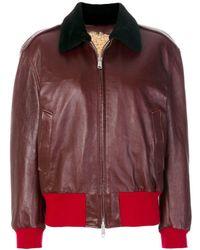 CALVIN KLEIN 205W39NYC Color Block Zip Jacket - Red