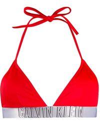 Calvin Klein Haut de bikini à logo - Rouge