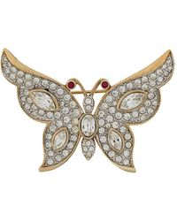 Susan Caplan '1980s Attwood & Sawyer Butterfly Brooch - Multicolour