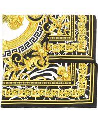 Versace Sjaal Met Barokprint - Zwart