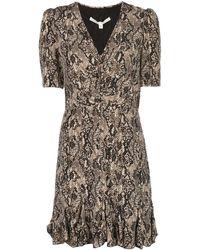 Veronica Beard スネークスキンパターン ドレス - ブラック