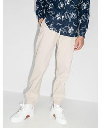 Kiton Pantalones de chándal con logo - Blanco