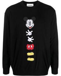 Iceberg Mickey Mouse インターシャ セーター - ブラック