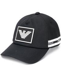 Emporio Armani Cappello da baseball con logo - Nero