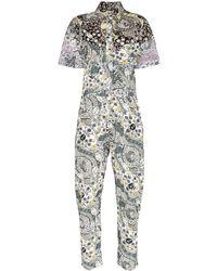 Étoile Isabel Marant Udena Print Jumpsuit - ホワイト