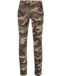 P.A.R.O.S.H. Camouflage-print Skinny Jeans - Green