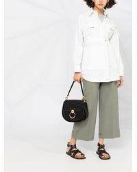 Brunello Cucinelli Короткое Пальто С Поясом - Белый