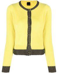 Pinko Metallic Two-tone Cardigan - Yellow