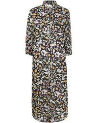 R13 フローラル シャツドレス - ブラック