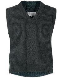 Maison Margiela Two-tone Jumper Vest - Grey
