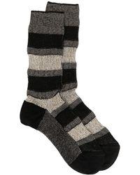 Missoni メタリック ストライプ 靴下 - ブラック