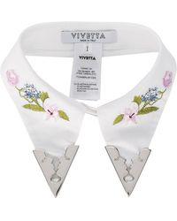 Vivetta Viareggio Embroidered Collar - White