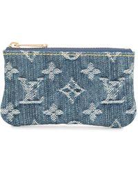 Louis Vuitton 2007 ポシェット・クレ デニムコインケース - ブルー
